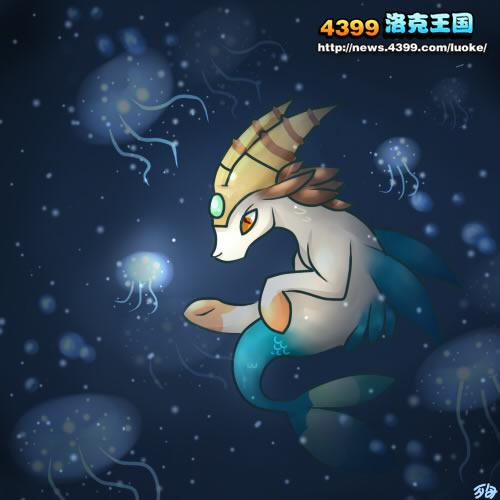 洛克王国黑暗中的光芒羊角摩羯 4399小殉