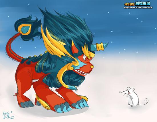 洛克王国年兽vs小老鼠 4399饭