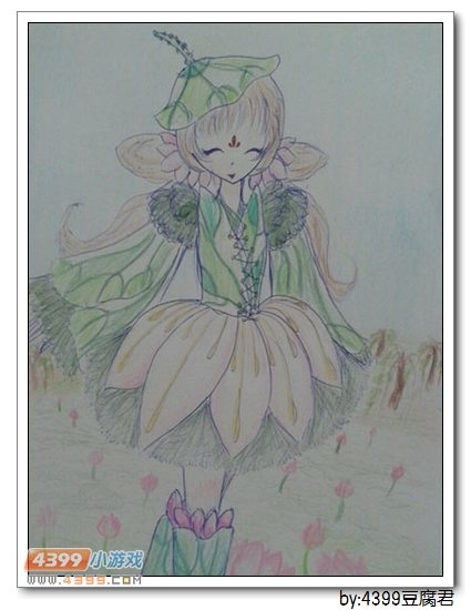 卡布手绘—荷花仙子_4399卡布西游手机版