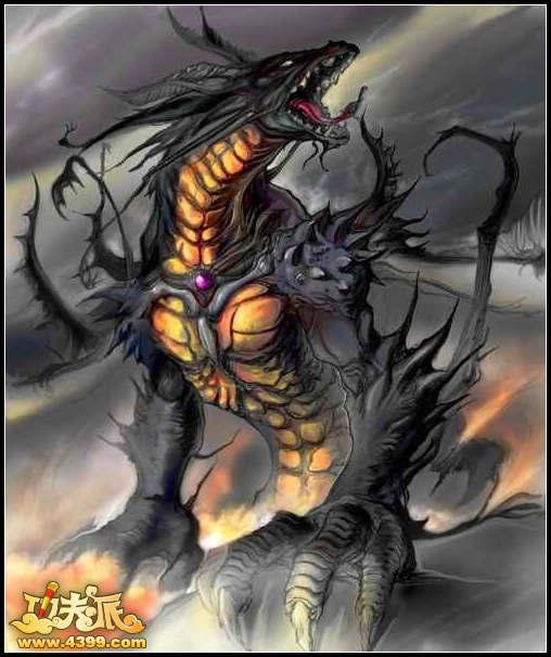 功夫派仙兽设计--暗黑魔龙