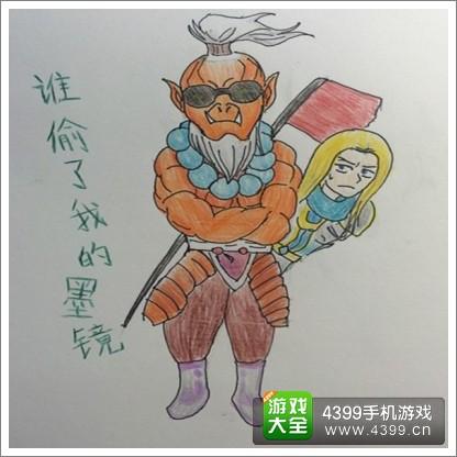 刀塔传奇剑圣玩家手绘图集 霸气可爱萌萌哒