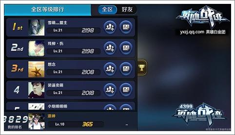 游戏等级的提升,可以让玩家在排行榜上的位置一并提升.