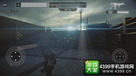 本作采用屏幕左下方的虚拟摇杆控制角色移动,右下角的按钮负责攻击