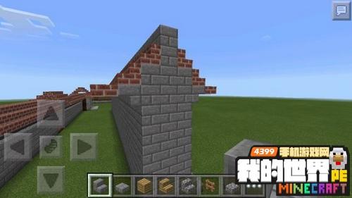 我的世界围墙设计图 中式带檐围墙