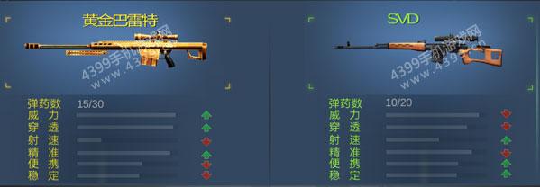 生死狙击手游黄金巴雷特对比图3