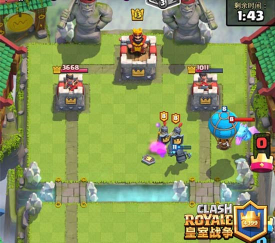 皇室战争双冰气球流