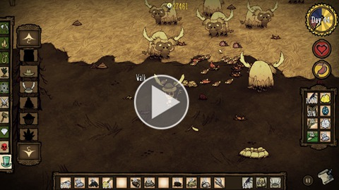 饥荒利用牛群刷小肉和蝴蝶