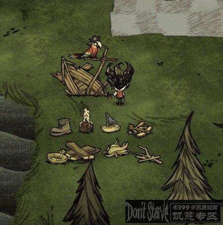饥荒鹦鹉与沉船的机制解析