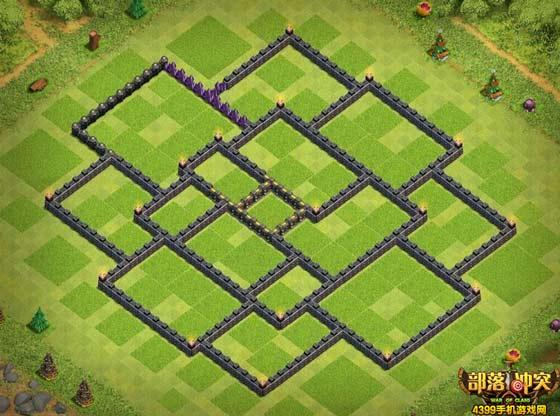 部落冲突10本超强护黑阵城墙版