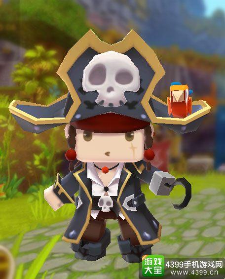 迷你世界皮肤黑帽子船长蒂奇