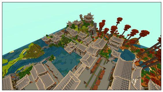 迷你世界创造地图:月归村野 好玩存档分享