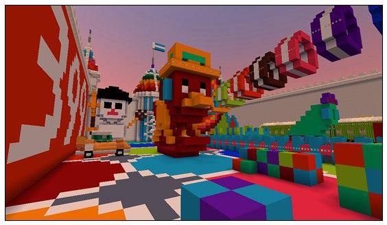 迷你世界对战地图:七彩玩具世界 好玩存档分享