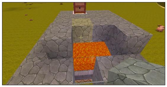 迷你世界岩浆全自动烤鸡场 新版烤鸡腿装置