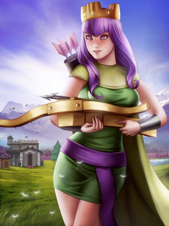 部落冲突年轻的女王