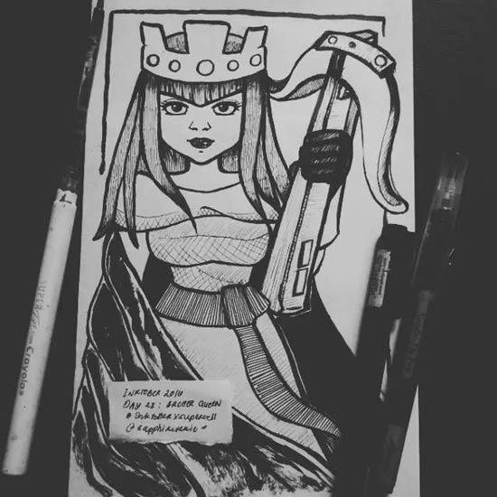 部落冲突漫画版女王