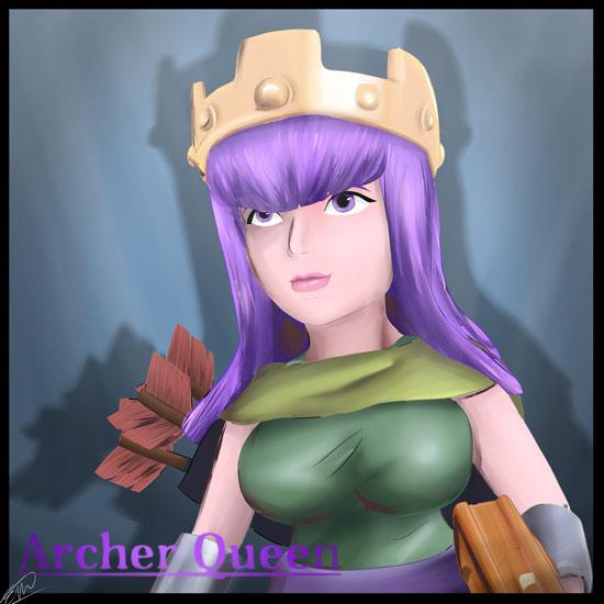 部落冲突手绘女王