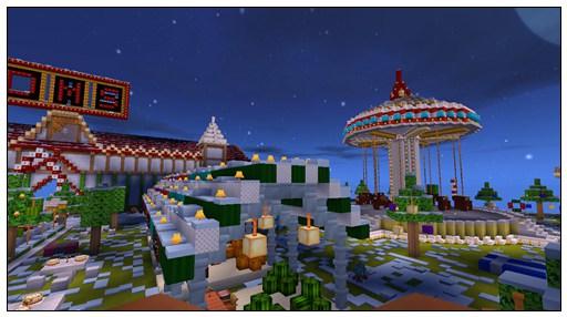 迷你世界生存存档:圣诞小镇 好玩存档分享