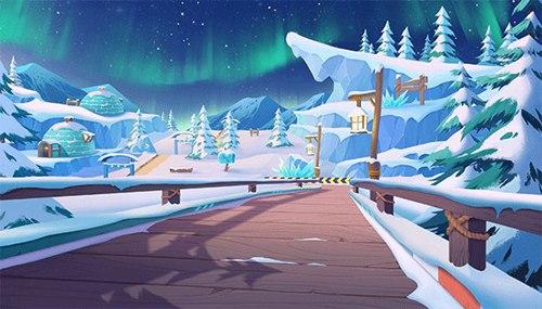 QQ飞车手游冰雪地图