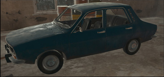 绝地求生全军出击蓝色轿车