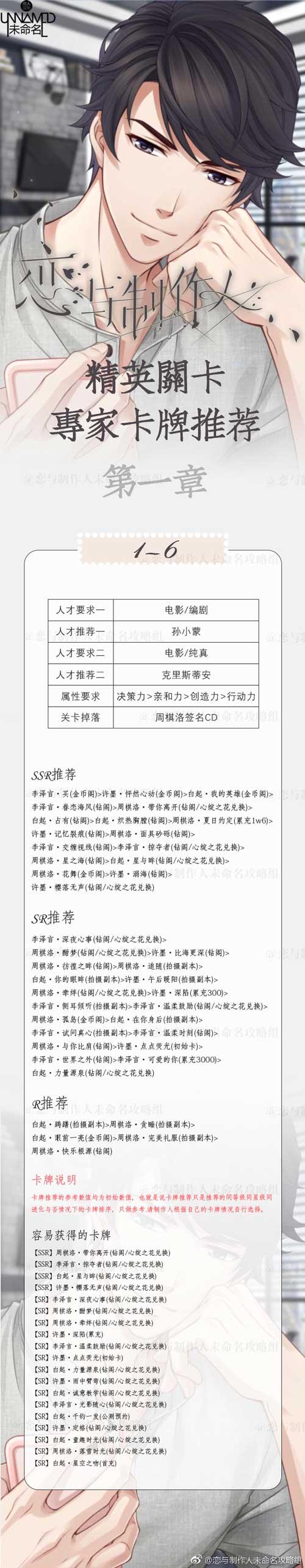 恋与制作人精英1-6关怎么过