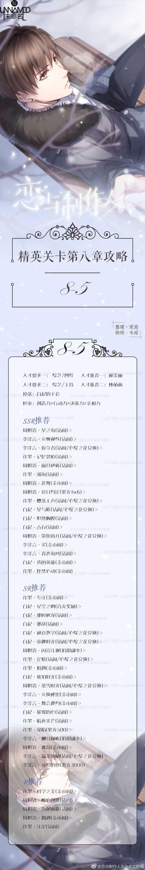恋与制作人精英8-5关攻略 精英第八章怎么过