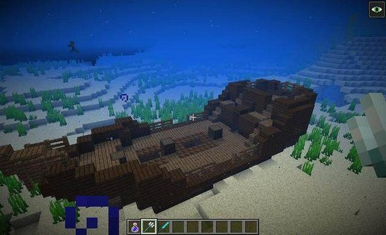 我的世界沉船