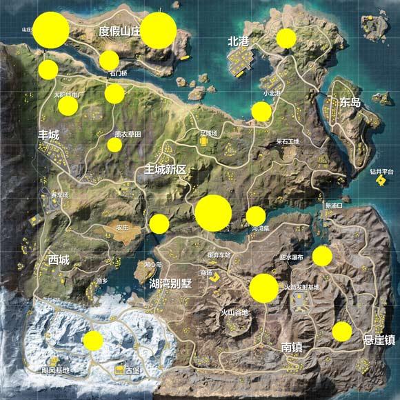 荒野行动飓风半岛中级资源点