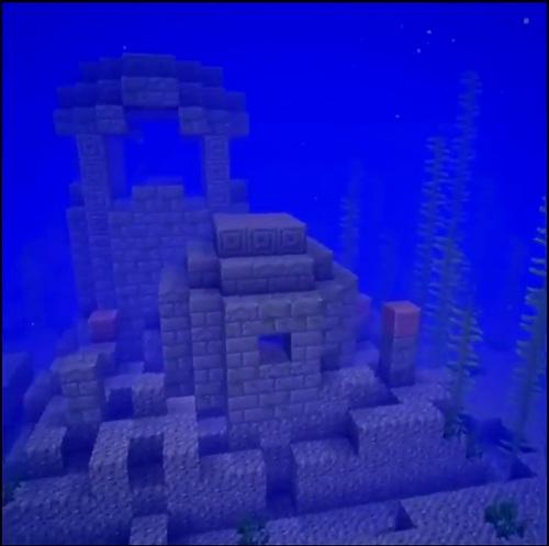 我的世界海底遗迹怎么去