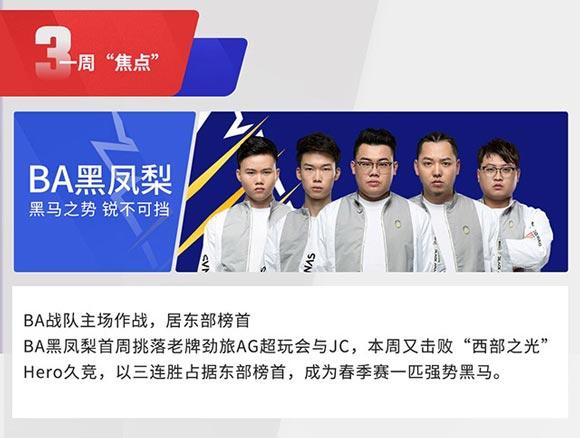王者荣耀2018年KPL春季赛第四周赛事回顾
