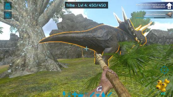 方舟生存进化三角龙怎么驯服