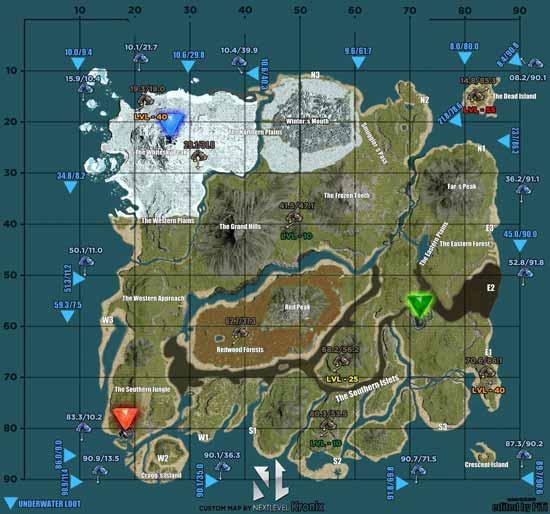 方舟生存进化地图