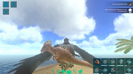 方舟生存进化手机版怎么携带恐龙飞行
