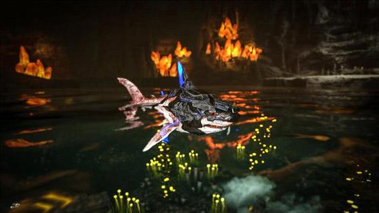 方舟生存进化泰克巨齿鲨鞍