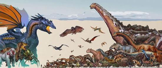 方舟生存进化恐龙对比