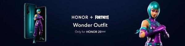 购买华为Honor20 免费得堡垒之夜专属皮肤