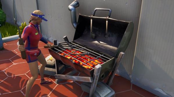 堡垒之夜烧烤架在哪里 使用烧烤用具十字镐破坏烧烤架